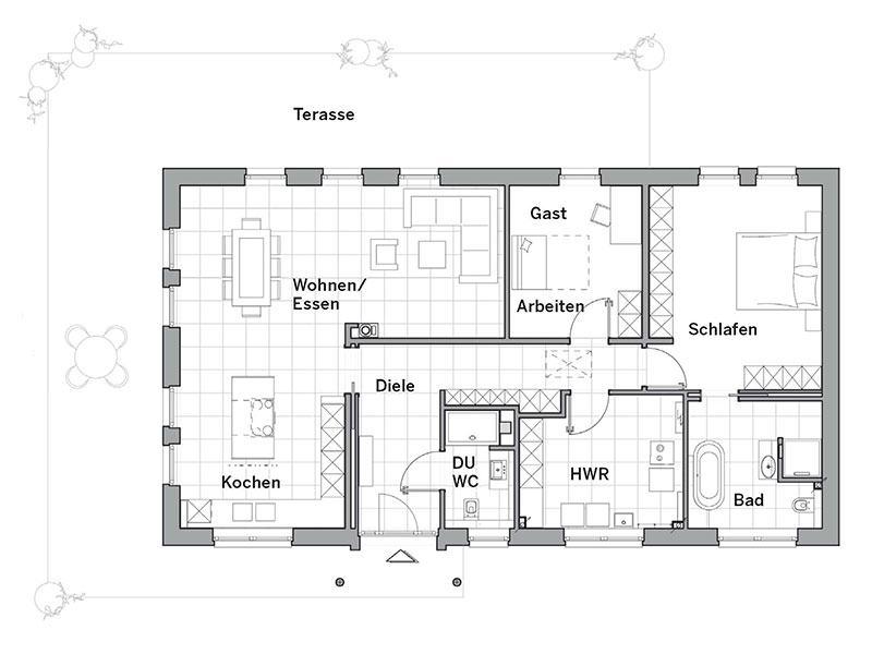 Grundriss Edition 510 B von Viebrockhaus