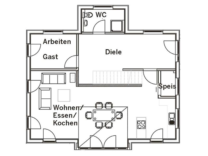 Grundriss Erdgeschoss Altenberger (Sonnleitner)