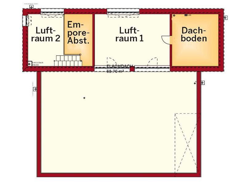 Grundriss Dachgeschoss Concept M 198 (Bien-Zenker)