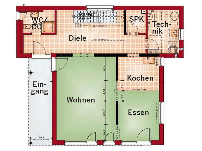 Grundriss Erdgeschoss Concept M 198 (Bien-Zenker)