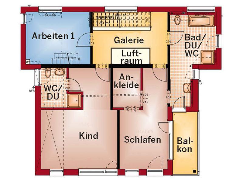 Grundriss Obergeschoss Concept M 198 (Bien-Zenker)