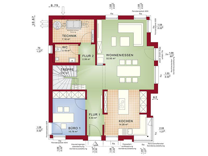 entwurf concept m 152 pfullingen von bien zenker. Black Bedroom Furniture Sets. Home Design Ideas