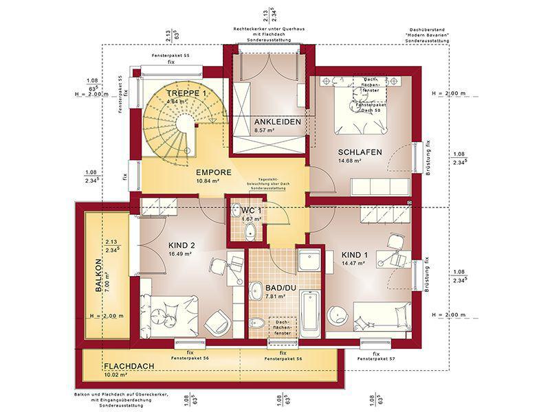 Grundriss Dachgeschoss Concept-M 159 Bad Vilbel (Bien-Zenker)
