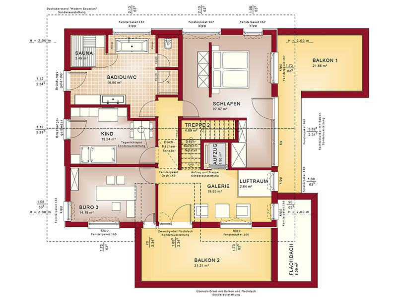 Grundriss Dachgeschoss Concept-M 211 Mannheim (Bien-Zenker)