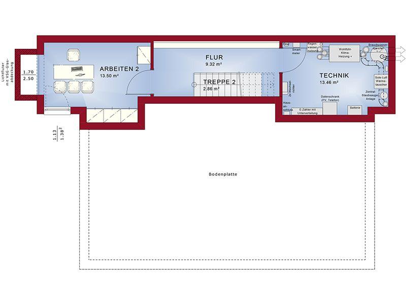 Grundriss Keller Concept-M 188 Wuppertal (Bien-Zenker)