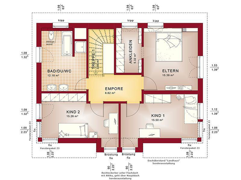 Grundriss Dachgeschoss Evolution 148 V9 C (Bien-Zenker)