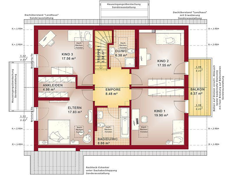Grundriss Dachgeschoss Evolution 207 V2 (Bien-Zenker)