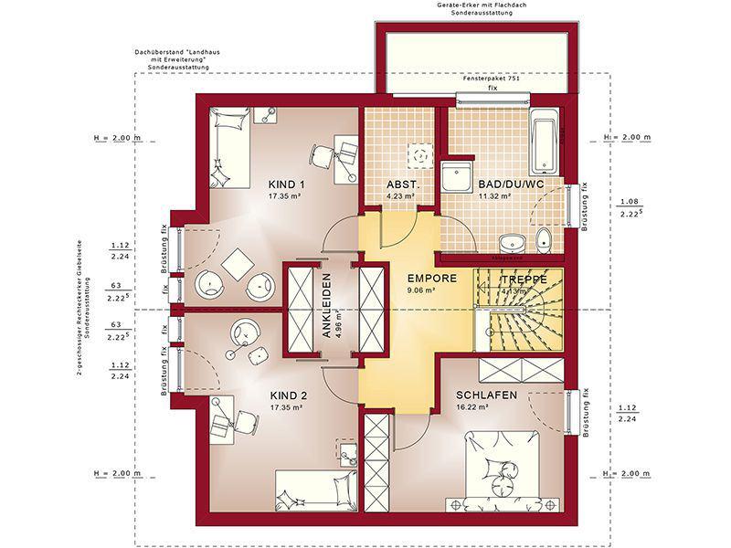 Grundriss Dachgeschoss Fantastic 165 V5 (Bien-Zenker)