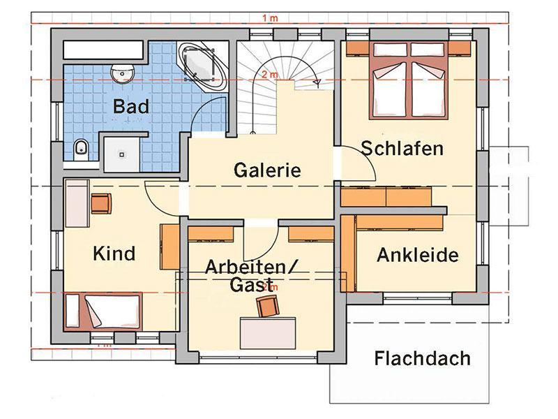 Grundriss Dachgeschoss R100.10 (Fingerhut Haus)