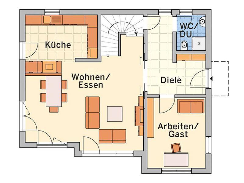 Grundriss Erdgeschoss R100.10 (Fingerhut Haus)