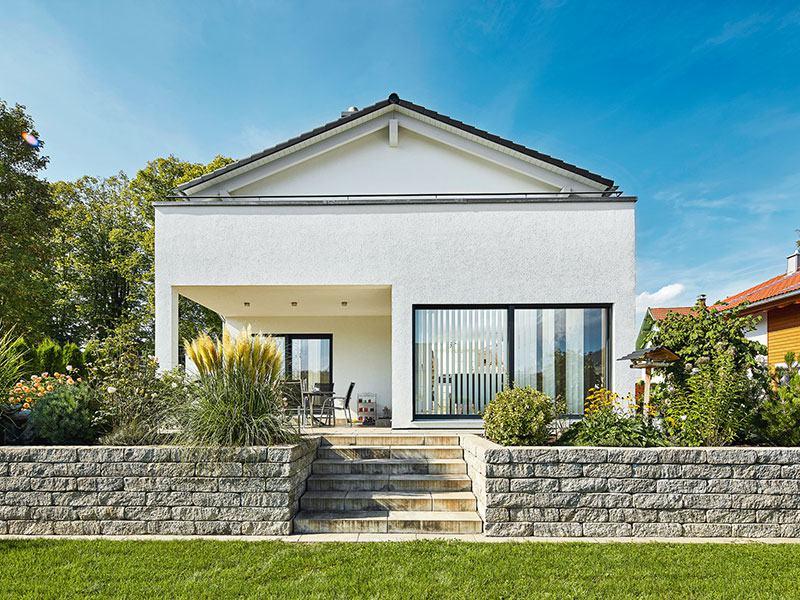 Luxhaus Landhaus139 - Aussenansicht Garten