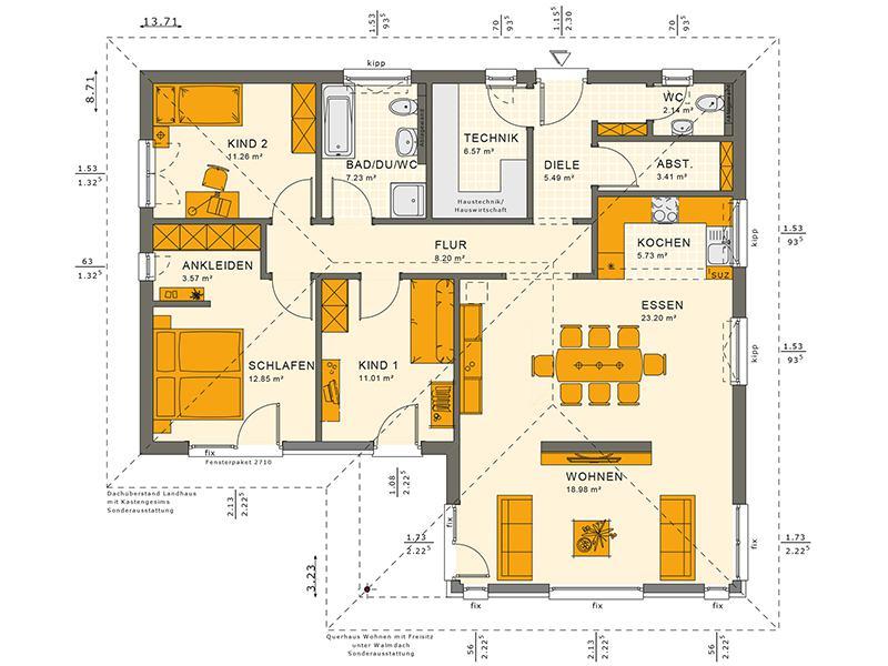 Grundriss Solution 100 V2 von Living Haus