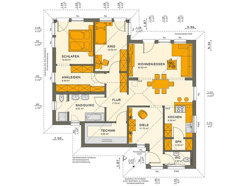 Grundriss SOLUTION 78 V7 von Livinghaus