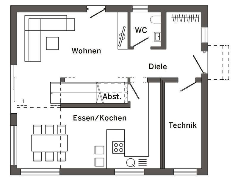 Grundriss Erdgeschoss Kundenhaus (SchwörerHaus)