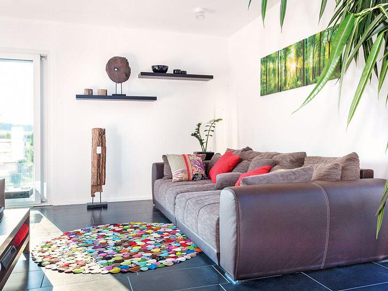 Entwurf Kundenhaus von SchwörerHaus Wohnbereich