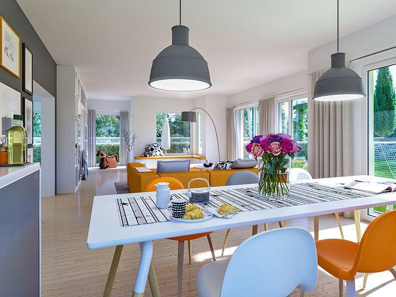 SUNSHINE Wohnbeispiel Wohn-Esszimmer (Living Haus)