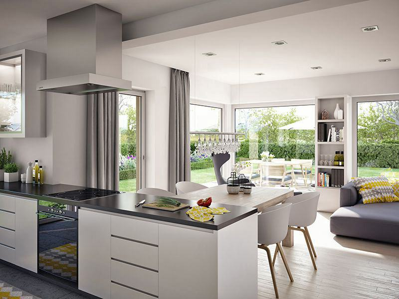 Wohnbeispiel Wohnen/Kochen (Living Haus)