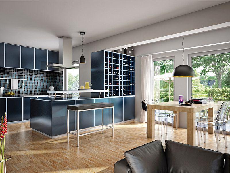 Solution 106 V6 a - Wohnküche - von Living Haus
