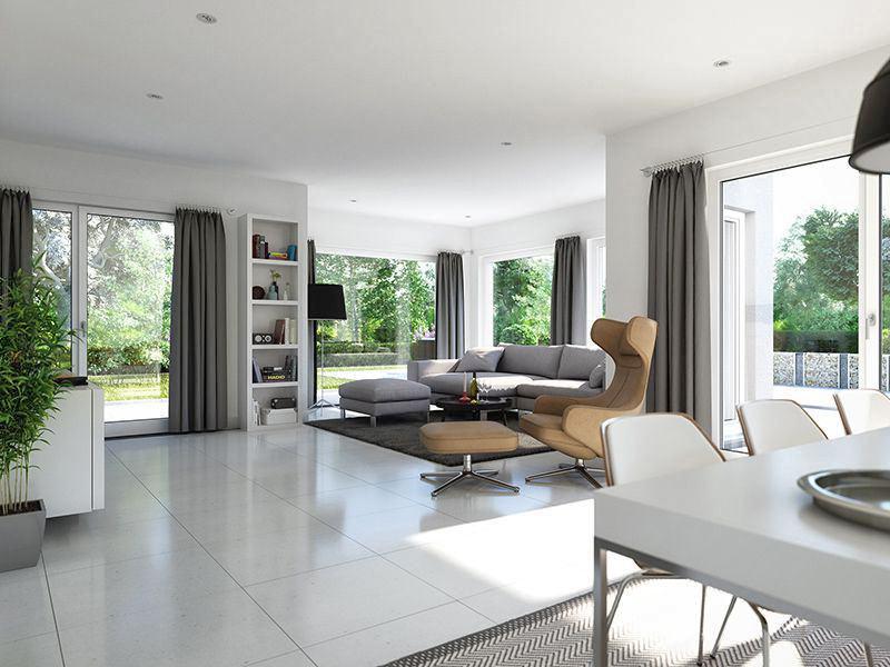 SUNSHINE Wohnbeispiel Wohnzimmer (Living Haus)