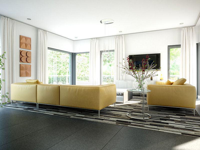 Wohnbeispiel Wohnzimmer Potsdam (Bien-Zenker)
