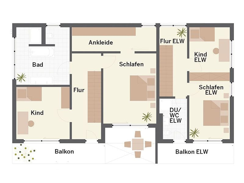 Grundriss Obergeschoss Haus Ehrenbach (Keitel Haus)