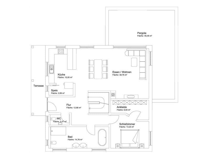 Bauvorhaben Bretzler: Grundriss Erdgeschoss