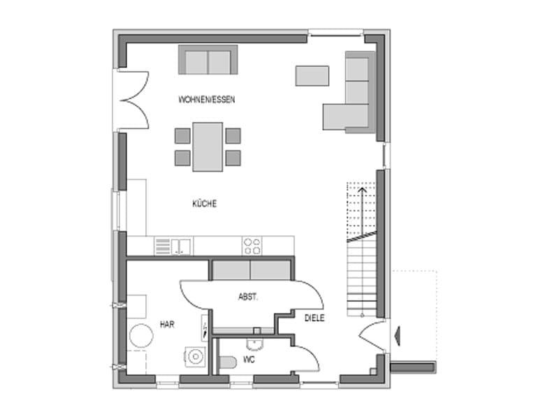 Grundriss Erdgeschoss Elbmosaik von Heinz von Heiden