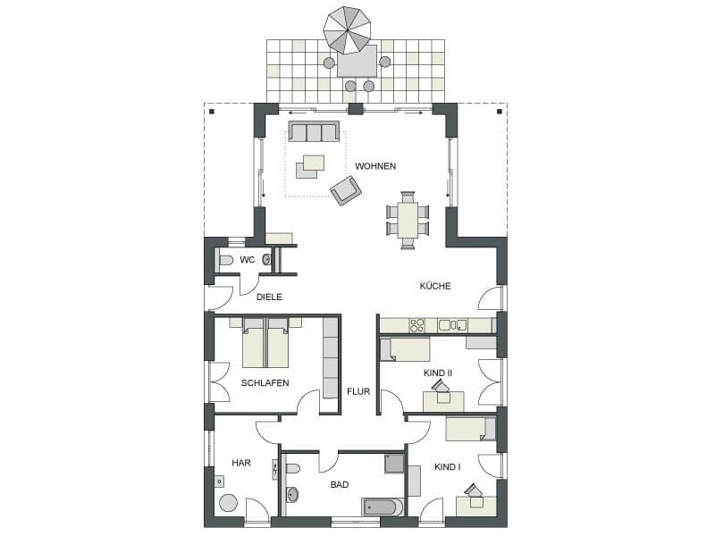 Grundriss Musterhaus Oranienburg von Heinz von Heiden