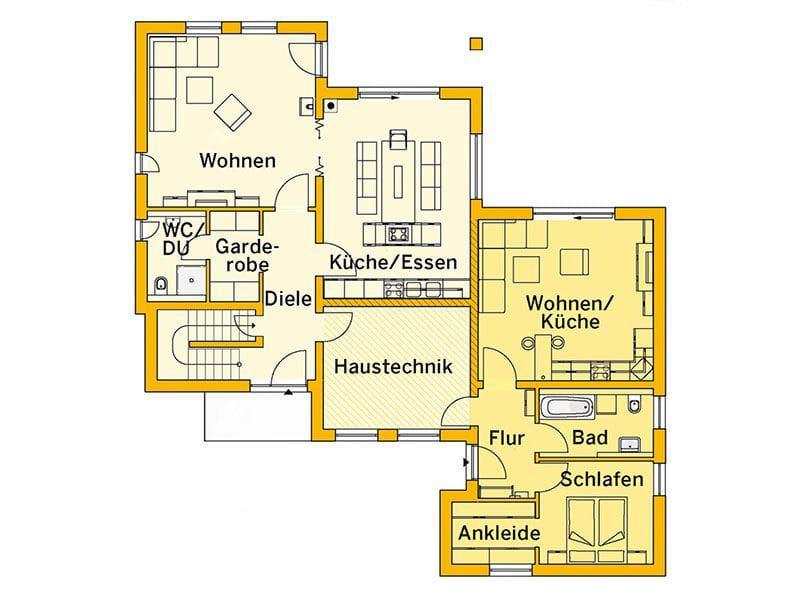 Grundriss Erdgeschoss Innovationshaus 240 (Ytong)