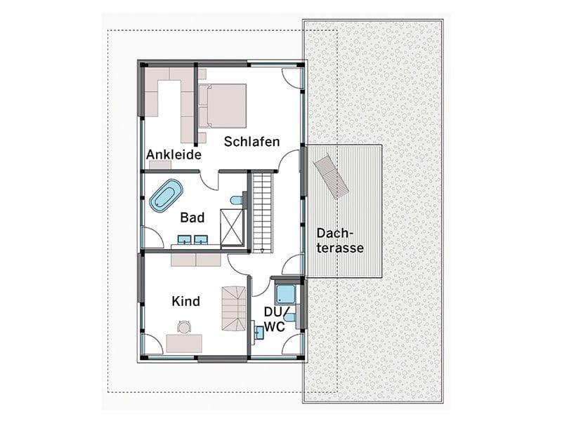 Grundriss Obergeschoss Modum Sonderausführung (HUF Haus)
