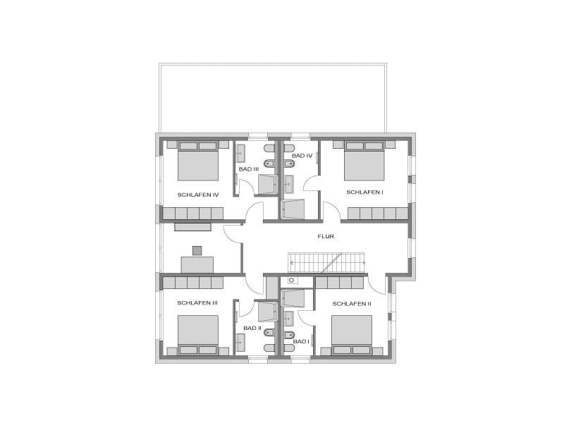 Obergeschoss Drundriss Villa Steinhude