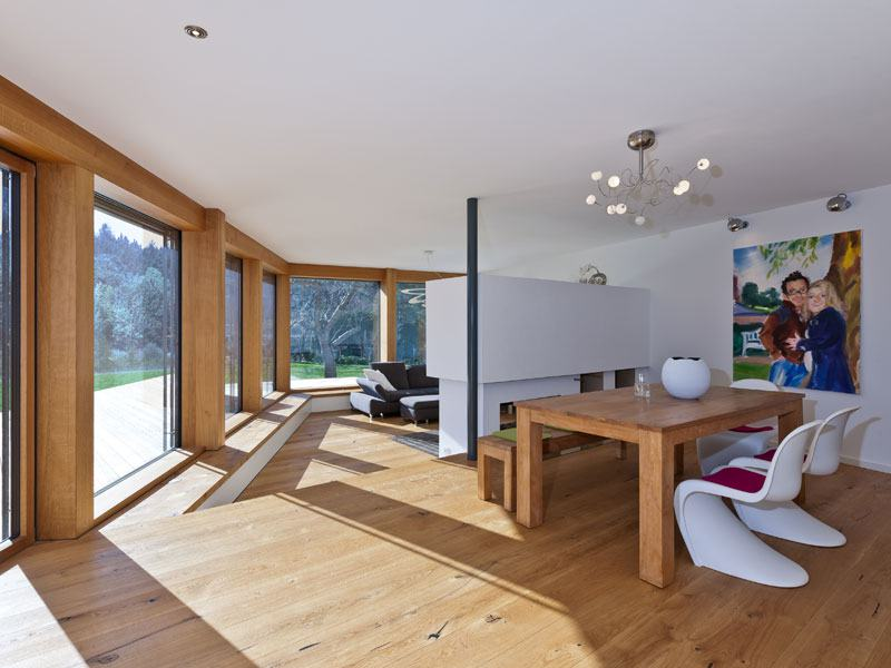 Wohn-, Essbereich Designhaus Bullinger von Baufritz