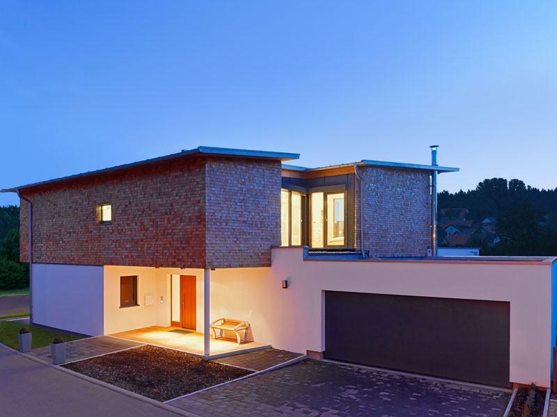 Außenansicht Designhaus Bullinger von Baufritz
