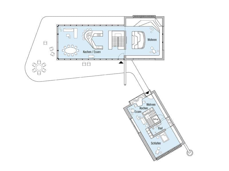 Grundriss Dachgeschoss Entwurf Haussicht von Baufritz