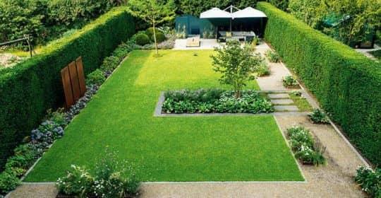 Geometrisch angelegte Rasenfläche (Foto: Pressebild)