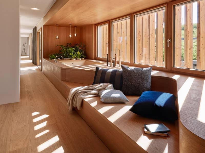 Badbereich Entwurf Haussicht von Baufritz