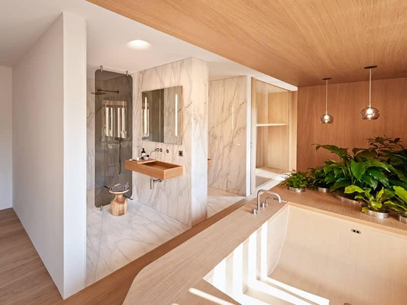 Bad Entwurf Haussicht von Baufritz