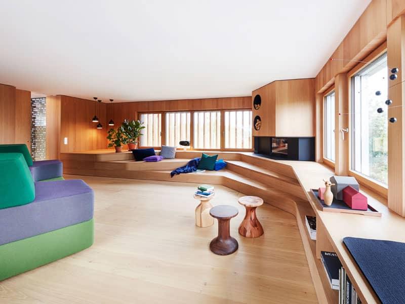 Wohnzimmer Entwurf Haussicht von Baufritz