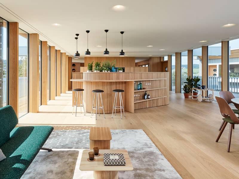 Tresen im Wohnzimmer Entwurf Haussicht von Baufritz