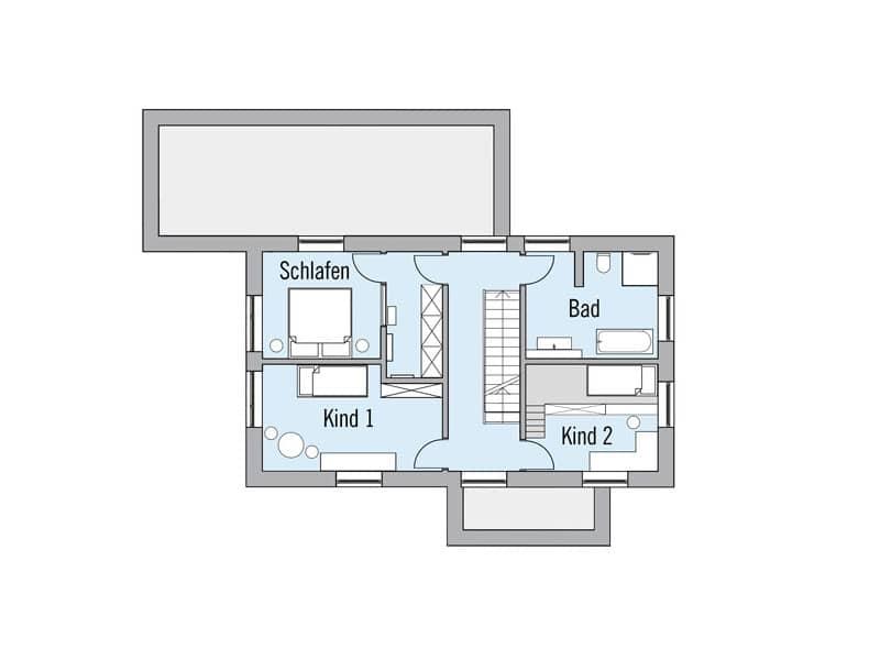 Grundriss Obergeschoss Entwurf Naturdesign von Baufritz