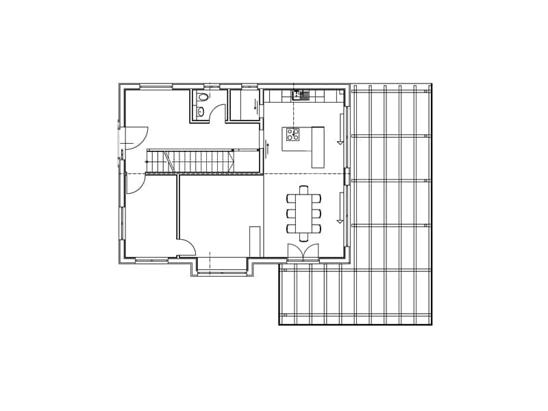 Grundriss Erdgeschoss Entwurf Gwandtner von Sonnleitner
