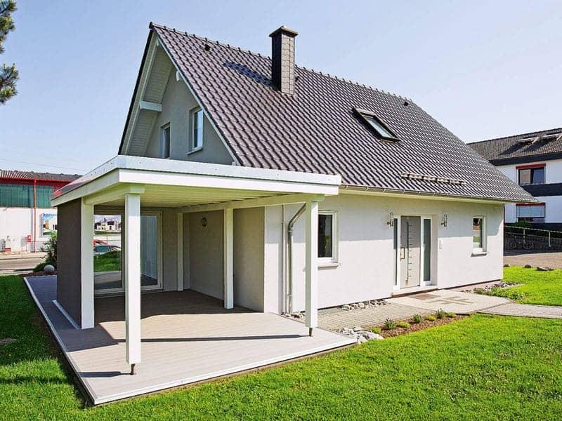 Entwurf R 99.20 von Fingerhut Haus Außenansicht Giebelseite