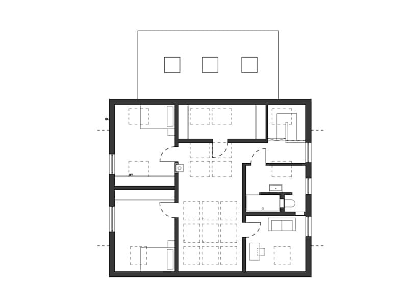 Grundriss Dachgeschoss Entwurf Healthy Home von SchwörerHaus