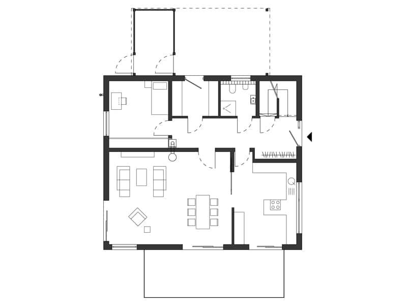 Grundriss Erdgeschoss Entwurf Healthy Home von SchwörerHaus
