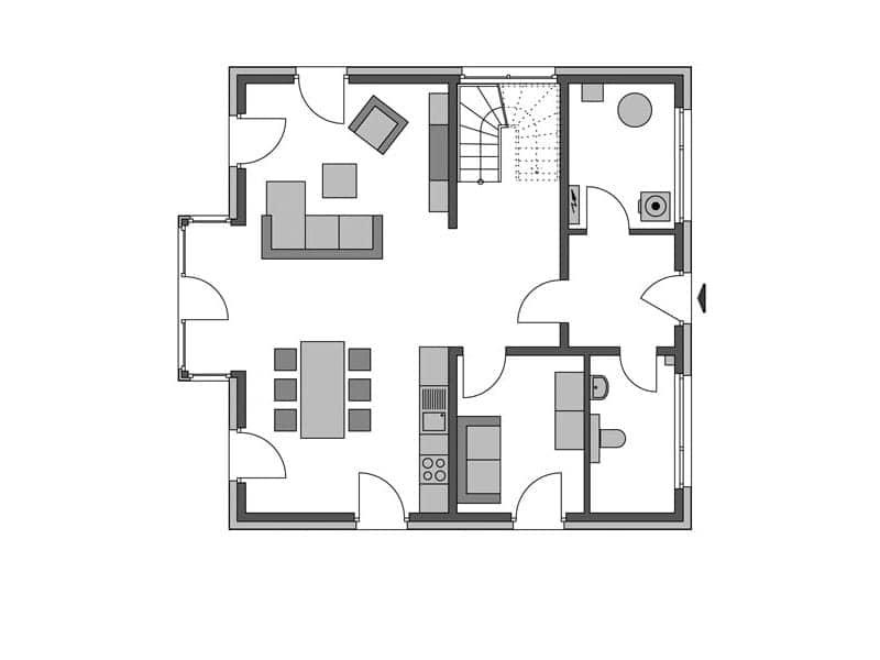Grundriss Erdgeschoss Villa Köpenick von Heinz von Heiden
