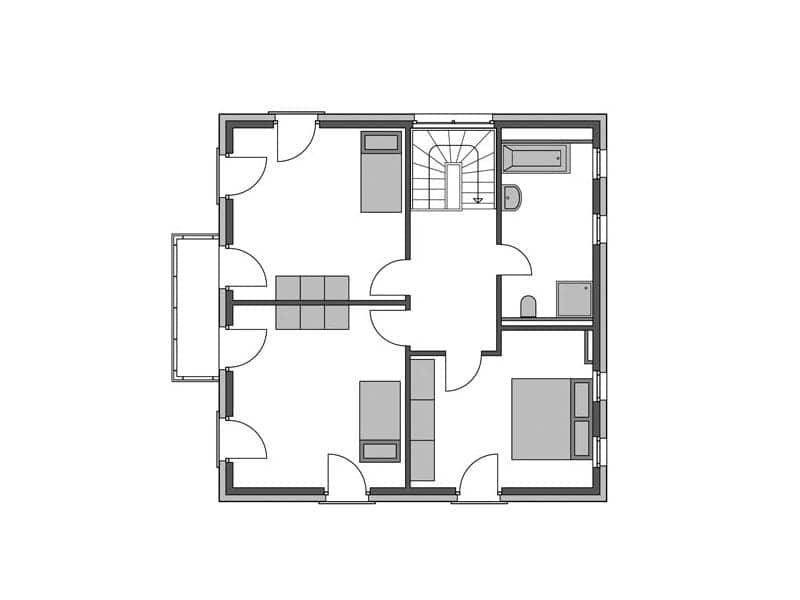 Grundriss Obergeschoss Villa Köpenick von Heinz von Heiden