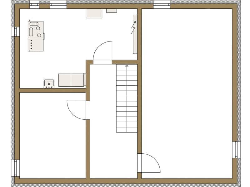 Grundriss Untergeschoss Entwurf LIFE von Fertighaus Weiss