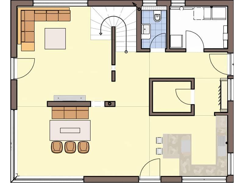 Grundriss Erdgeschoss Entwurf Brentano von Büdenbender
