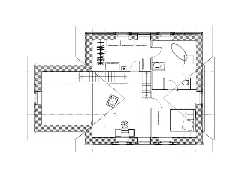 Grundriss Obergeschoss Entwurf Anja von Christianus