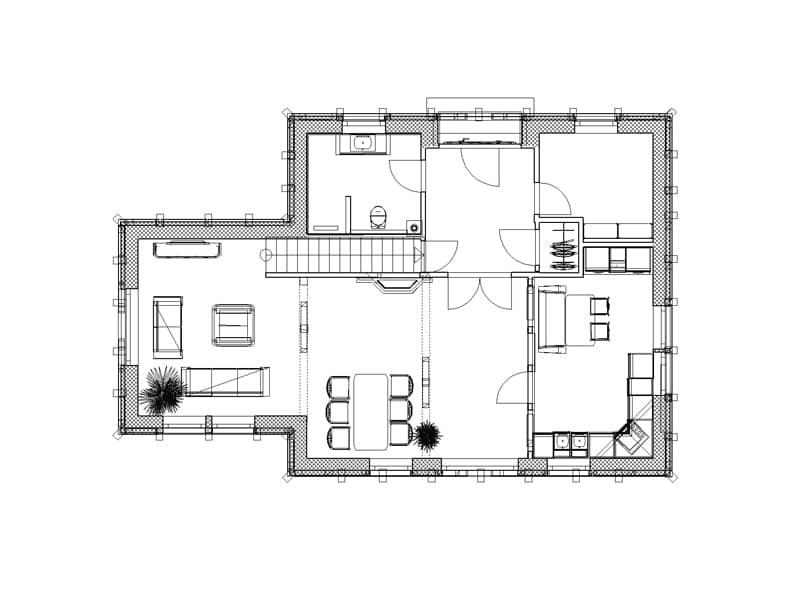 Grundriss Erdgeschoss Entwurf Anja von Christianus